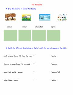 Interactive worksheet The 4 Seasons