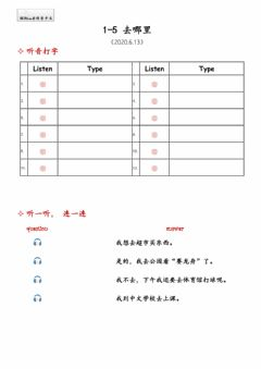 Interactive worksheet 1-5去哪里