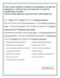 Interactive worksheet 1- A pergunta