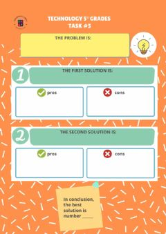 Interactive worksheet Task 5 Technology 5°Grades