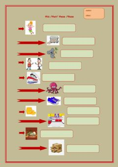 Interactive worksheet This-that-these-those