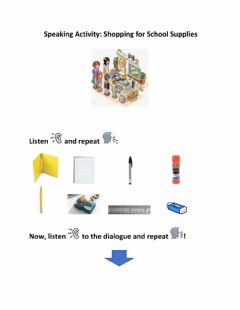 Interactive worksheet Shopping for School Supplies