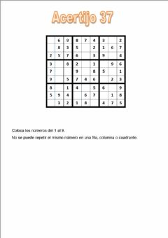 Interactive worksheet Acertijo 37
