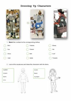 Interactive worksheet Dressing up