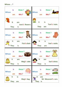 Interactive worksheet Whose