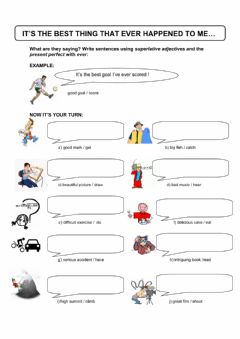 Interactive worksheet It's the best thing that ever happened to me!