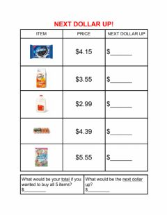 Interactive worksheet Next dollar up-1
