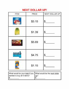 Interactive worksheet Next dollar up-2