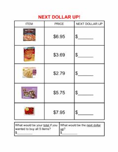 Interactive worksheet Next dollar up-3
