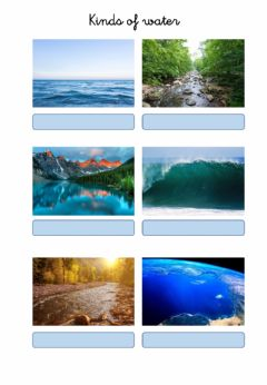 Interactive worksheet Kinds of water
