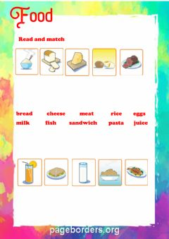 Interactive worksheet Food and drink