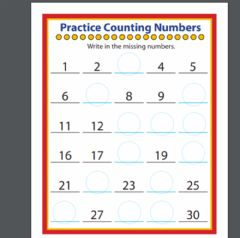 Interactive worksheet Complete the missing number