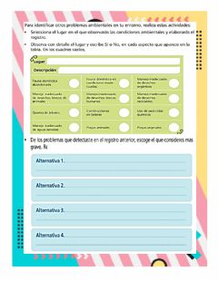Interactive worksheet Ambiente