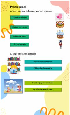 Interactive worksheet Palabras con bl, pl