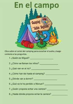 Interactive worksheet En el campo