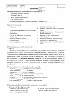 Interactive worksheet EXTRAORDINARIA Junio  3º ESO
