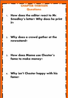 Interactive worksheet The Cricket in Times Square Chapter 13