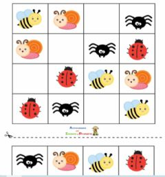 Interactive worksheet Sudokus infantiles