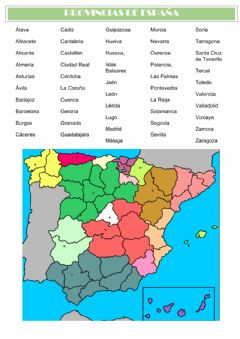 Interactive worksheet Provincias de españa