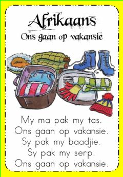 Interactive worksheet Week 18 - Afrikaans - Read and Listen