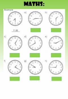 Interactive worksheet WEEK 18: WEDNESDAY: Time