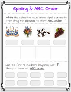 Interactive worksheet Spelling with ABC order