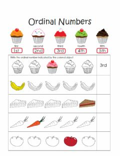 Interactive worksheet Ordinal numbers 1-5