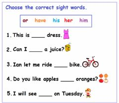 Ficha interactiva Sight Words Worksheet - 4
