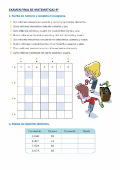 Interactive worksheet EXAMEN FINAL DE MATEMÁTICAS 1