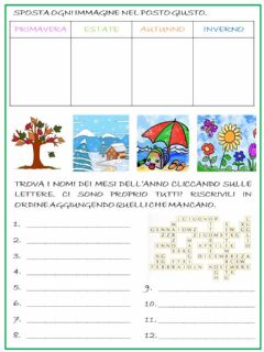 Interactive worksheet I mesi e le stagioni