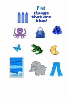 Interactive worksheet Colour BLUE