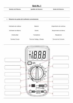 Interactive worksheet Partes del Multímetro D