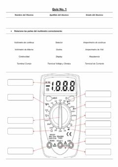 Interactive worksheet Partes del Multímetro E