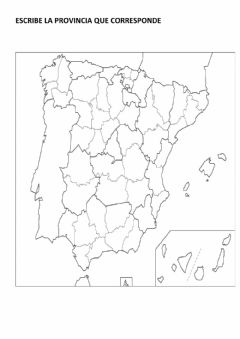Interactive worksheet Mapa de españa