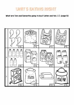 Interactive worksheet Year 4 Unit 5 Eating Right