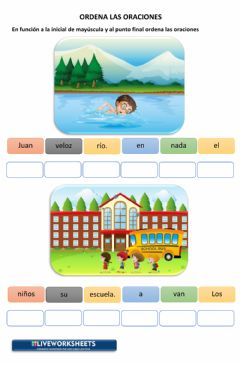 Interactive worksheet Ordena Oraciones