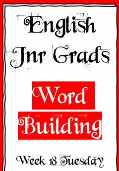 Interactive worksheet Week 18 - Tuesday - Word building