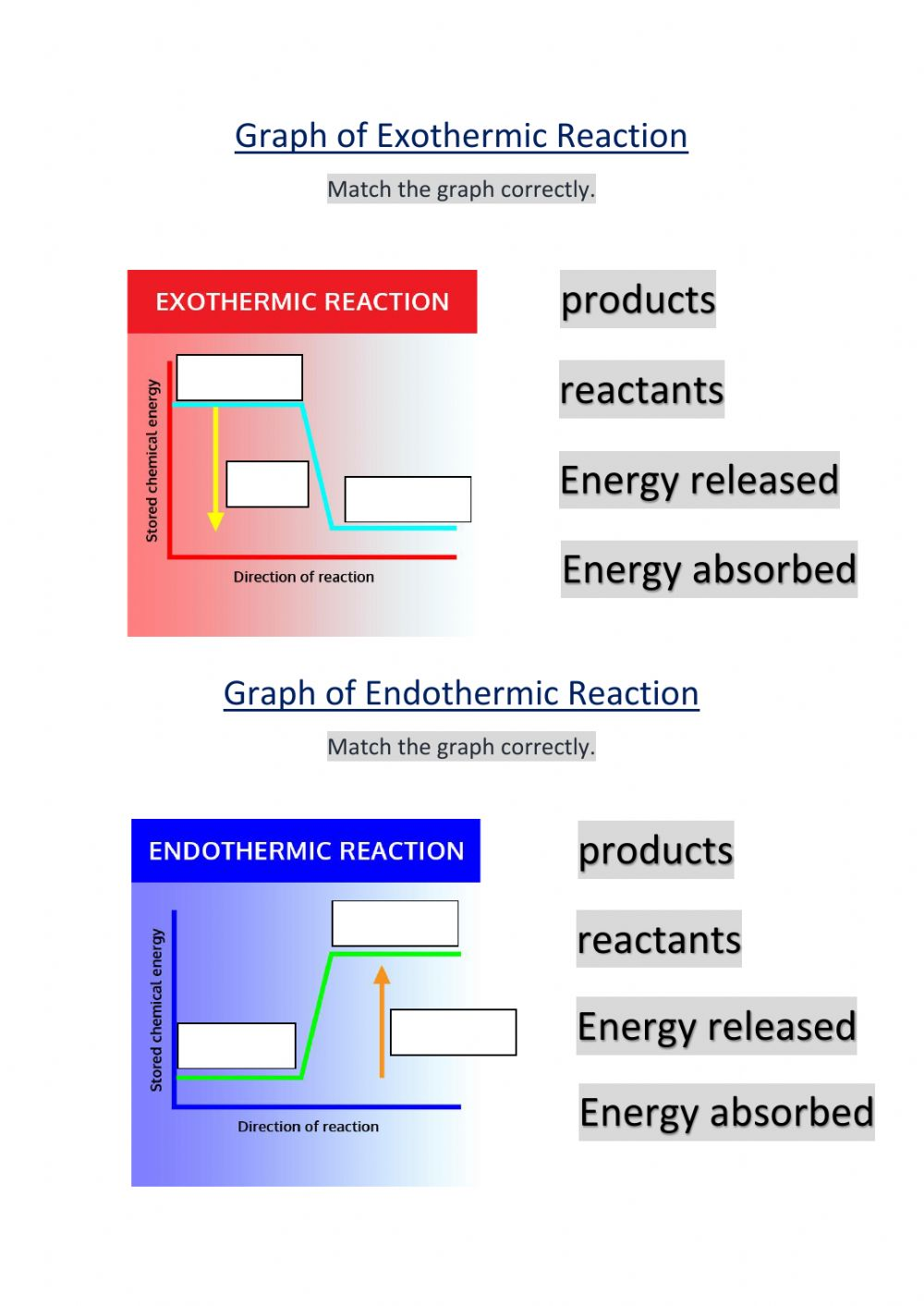 Thermochemistry interactive worksheet