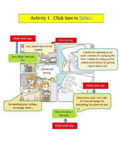 Interactive worksheet Year 5 Unit 8 Listen and Say