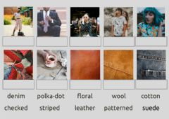 Interactive worksheet Patterns and materials