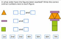 Interactive worksheet Ordinal numbers (stacking a tower)