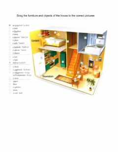 Interactive worksheet Put the names of the furniture and objects in the house