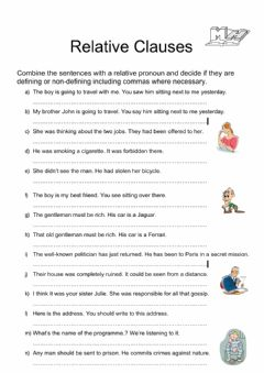 Interactive worksheet Rephrasing relatives
