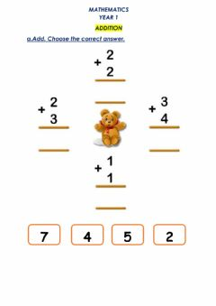 Interactive worksheet Easy Addition