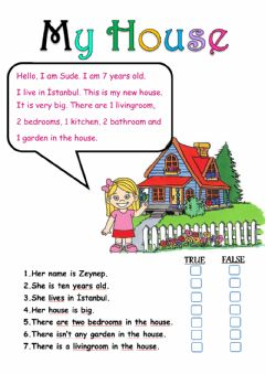 Interactive worksheet House-Reading