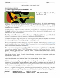 Interactive worksheet The power of music - Final assessment - READING & WRITING