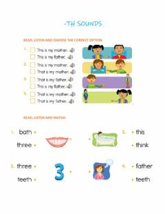 Interactive worksheet Th sound