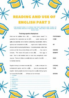 Interactive worksheet Reading and use of english CAE (PART 3)