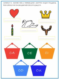 Interactive worksheet Le sillabe della C