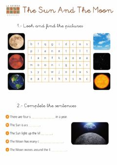 Interactive worksheet The sun and the moon